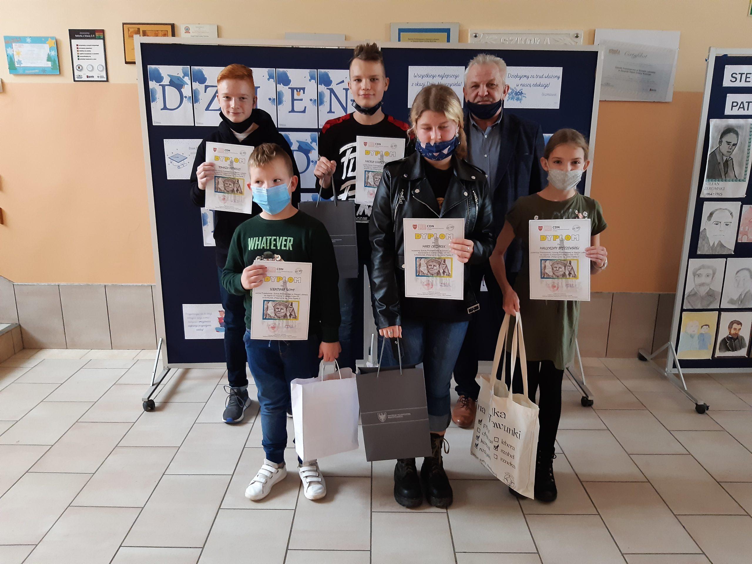 """Nasze osiągnięcia w Powiatowym Konkursie """"Pielgrzymki św. Jana Pawła II"""""""
